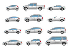 Set of cars. Cars  on a white background Royalty Free Stock Photos