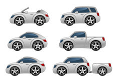 Set of cars. On a white background Stock Illustration