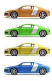 Set cars Royalty Free Stock Images