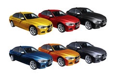Set of cars, BMW 3 (F30) Stock Photography