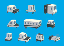 Set of cars icons on blue background Royalty Free Stock Photo