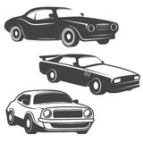 Set of cars icons isolated on white background. Design elements vector illustration