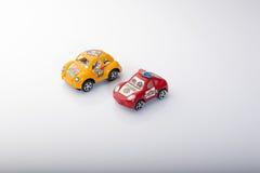 Set of cars isolated on white background Stock Photos