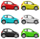 Set cars Royalty Free Stock Photos