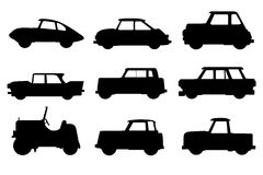 Set of cars Royalty Free Stock Images