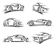 Set of cars Royalty Free Stock Photos