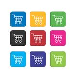Set cart colorful icons Royalty Free Stock Photos