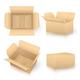 Set of carton boxes Royalty Free Stock Photo