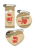 Set of carton tags. Big sale Royalty Free Stock Photo