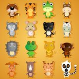 Set of cartoon animal characters Royalty Free Stock Photography