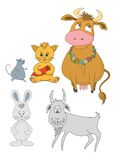 Set cartoon animals Stock Photography