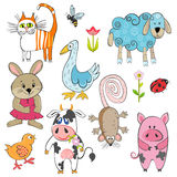 Set of cartoon animals Royalty Free Stock Photography