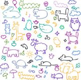 Set of cartoon animals Royalty Free Stock Photo