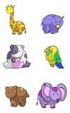 Set of cartoon animals Stock Image
