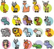 Set of cartoon animals,vector Royalty Free Stock Photography