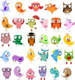 Set of  cartoon birds,vector Royalty Free Stock Image