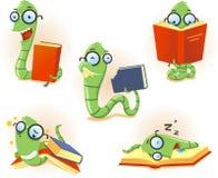 Set cartoon bookworm Stock Photo