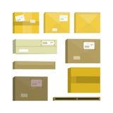 Set of Cartoon Box. Stock Photography