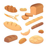 Set of cartoon bread Royalty Free Stock Images