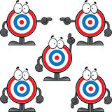 Set of Cartoon Bulls Eye Stock Image