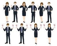 Set Cartoon Business People isolated on White Background No.4. Vector Illustration Royalty Free Stock Image