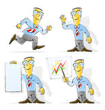 Set of cartoon businessman Royalty Free Stock Image