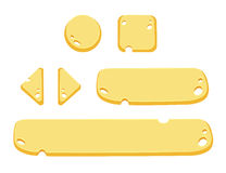 Set of cartoon buttons vector gui elements Stock Photos