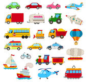 Set of cartoon cars Stock Photography