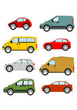 Set of cartoon cars. On a white background. Vector Vector Illustration