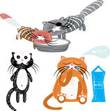 Set of cartoon cats Royalty Free Stock Image