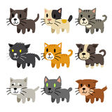Set of cartoon cats Royalty Free Stock Images