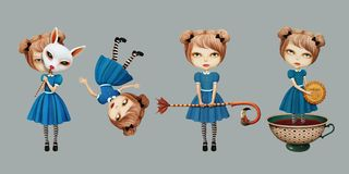 Set Wonderland character Royalty Free Stock Photography