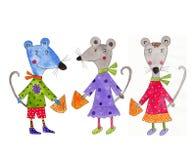 Set of cartoon characters Stock Image