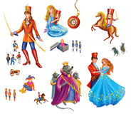 Set cartoon Characters for fairy tale Nutcracker Stock Photo