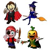 Set of cartoon characters for halloween. royalty free illustration