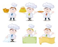 Set of cartoon cooks, chefs Stock Photography