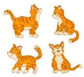 Set of cartoon cute cats Royalty Free Stock Photos