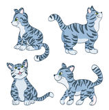 Set of cartoon cute cats Royalty Free Stock Images