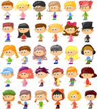 Set of cartoon cute children,vector Stock Image