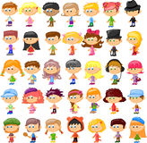 Set of cartoon cute children,vector Royalty Free Stock Photo
