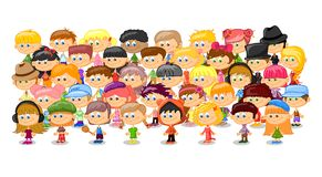 Set of cartoon cute children Royalty Free Stock Photo