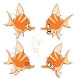 Set of cartoon cute deep-water Royalty Free Stock Photo