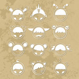 Set cartoon cute monsters. Vector. 10 Royalty Free Stock Image