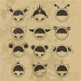 Set cartoon cute monsters. Vector. 10 Royalty Free Stock Images