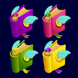 Set of cartoon different color book Royalty Free Stock Photography