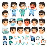Set of Cartoon Doctor Character for Your Design or Royalty Free Stock Photos