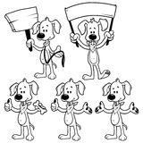 Set of cartoon dog. Outline Royalty Free Stock Images