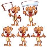Set of cartoon dog Stock Images