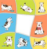 Set of cartoon dogs. Stock Images