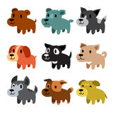 Set of cartoon dogs Royalty Free Stock Photography